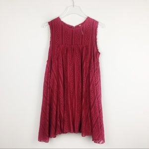 Free People | Red Lace Sleeveless Dress | SP